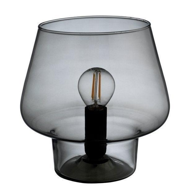"""<strong>Under £50</strong><br><br>I love the smoky glass of this table lamp and the cool LED bulb makes it. I hope the low light will inject some cosiness into my room come evening.<br><br><strong>Habitat</strong> Habitat Lyss Glass Table Lamp - Smoke, $, available at <a href=""""https://www.argos.co.uk/product/9311295?clickSR=slp:term:smoked%20glass%20table:1:63"""" rel=""""nofollow noopener"""" target=""""_blank"""" data-ylk=""""slk:Habitat"""" class=""""link rapid-noclick-resp"""">Habitat</a>"""