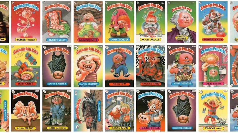 The Garbage Pail Kids cards from Topps.