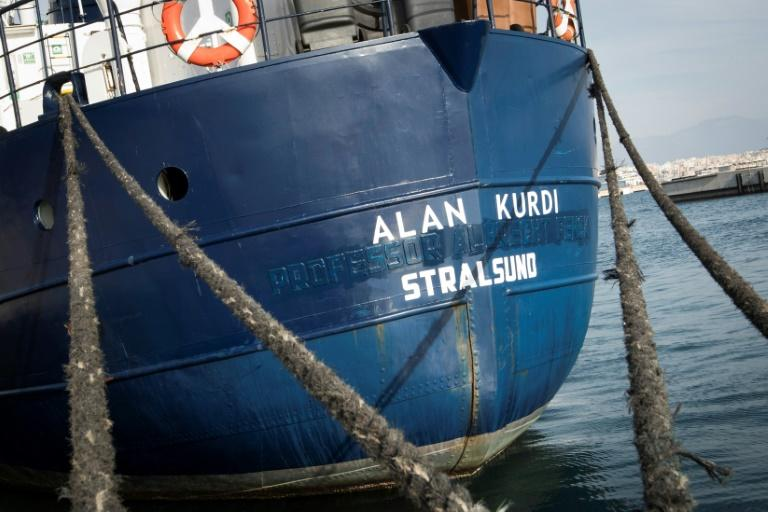 German NGO Sea-Eye was able to get 90 migrants onboard its ship Alan Kurdi (pictured February 2019) while under attack from militants