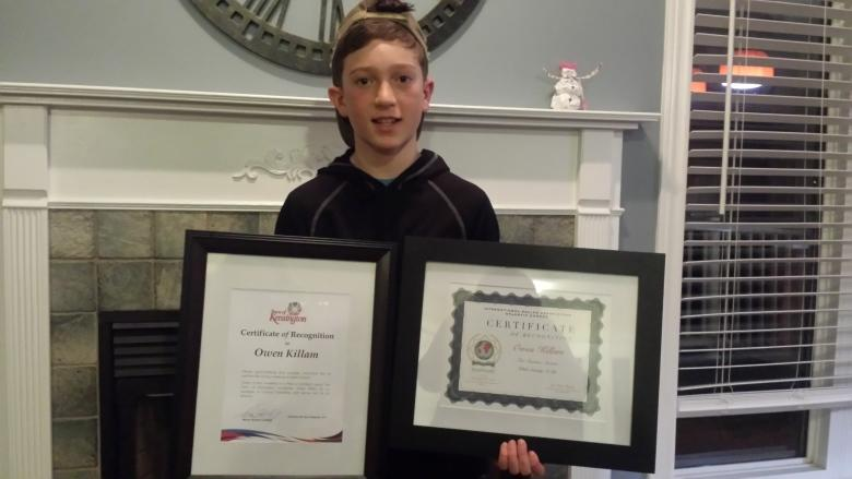 10-year-old boy recognized for saving choking friend