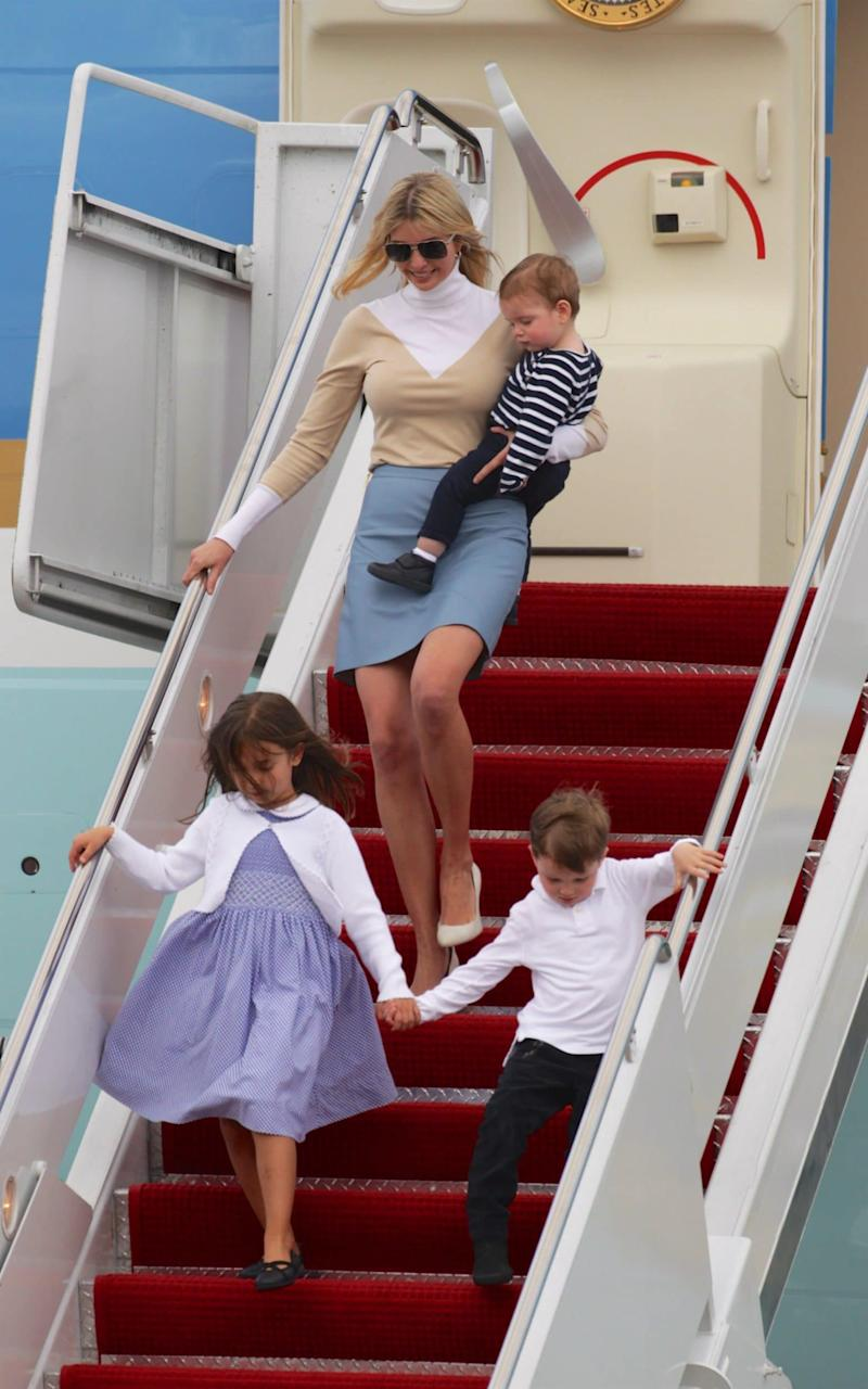 Ivanka Trump arrives in Florida  - Credit:  Splash News