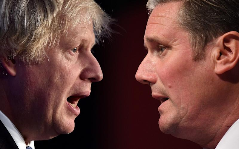 The Prime Minister, Boris Johnson, and the Labour leader, Sir Keir Starmer - Getty Images