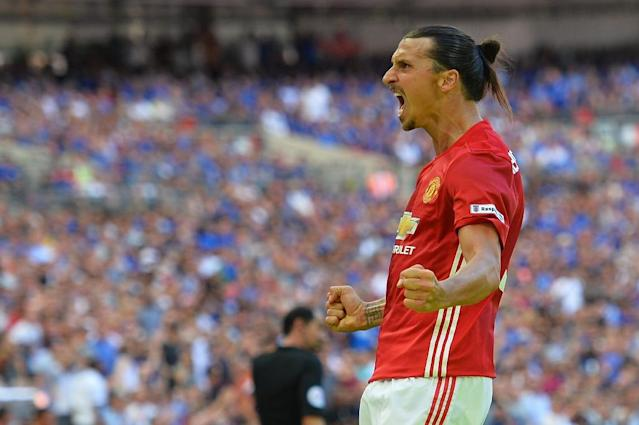 Zlatan Ibrahimovic's late goal sank Leicester in Sunday's Community Shield (AFP Photo/Glyn Kirk)