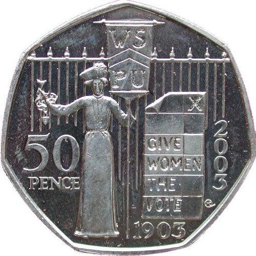 2003 Suffragettes 50p coin (Image: Check Your Change)