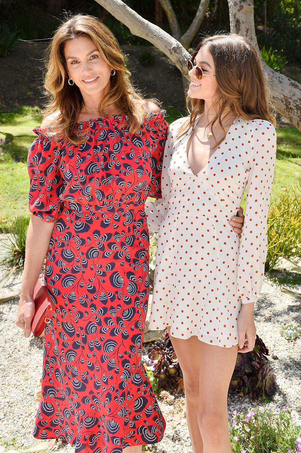 Cindy Crawford and Kaia Gerber host Best Buddies Mother's Day Brunch in Malibu, CA sponsored by David Yurman on May 13, 2017 in Malibu, California. (Photo: Getty Images)