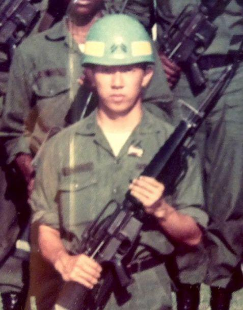 PHOTO: Lee Wong, a Westchester, Ohio board member, shared this photo of himself when he served in the U.S. Army. (Courtesy Lee Wong)