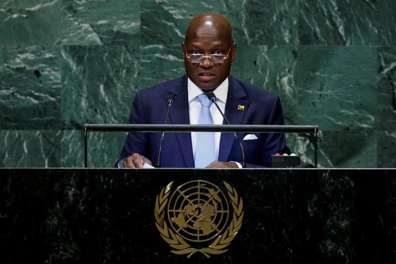 FILE PHOTO: Guinea-Bissau's President Jose Mario Vaz addresses the 73rd session of the United Nations General Assembly at U.N. headquarters in New York