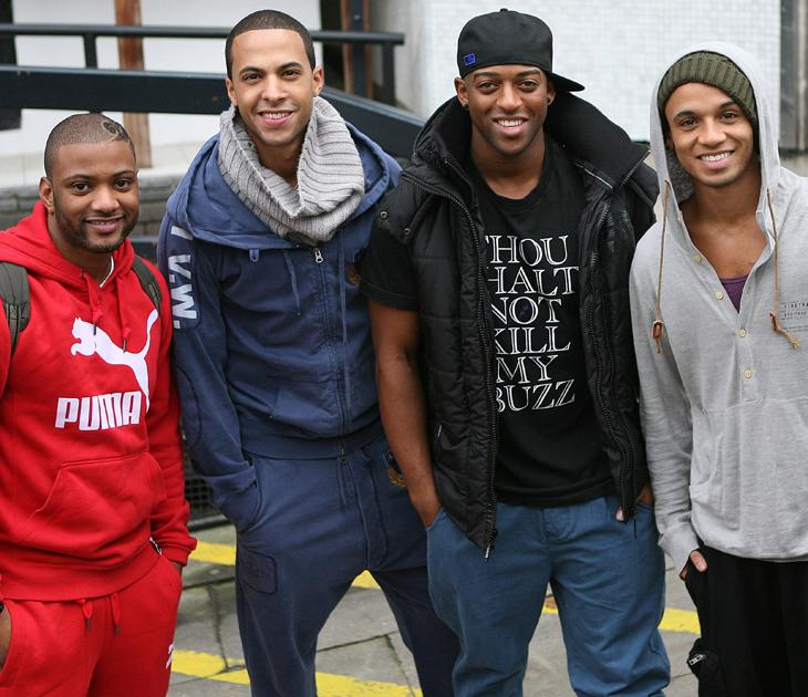 JLS photos: At the start of their career, the boys are just as buff.