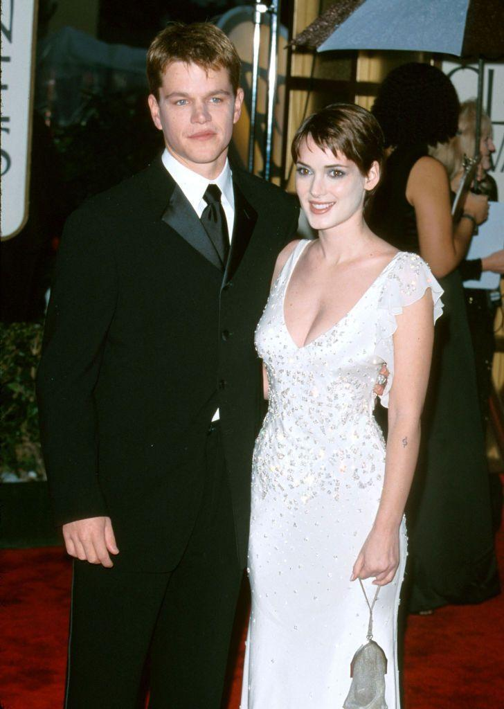 """<p>Matt and Winona dated for three years from 1997, after Gwyneth Paltrow introduced them. Though it didn't work out, they have nothing but good things to say about each other - """"Matt couldn't be a greater, nicer guy,"""" Winona once said in <a href=""""https://www.popsugar.com/celebrity/photo-gallery/44108926/image/44109198/Matt-Damon"""" rel=""""nofollow noopener"""" target=""""_blank"""" data-ylk=""""slk:an interview"""" class=""""link rapid-noclick-resp"""">an interview</a>. """"I'm really lucky that I'm on good terms with him.""""</p>"""
