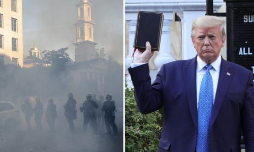 Bishop 'outraged' over Trump's church photo op during George Floyd protests