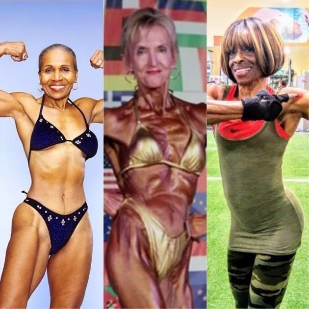 Janice (centre) hit the gym after retirement and found a new purpose. Source: Supplied