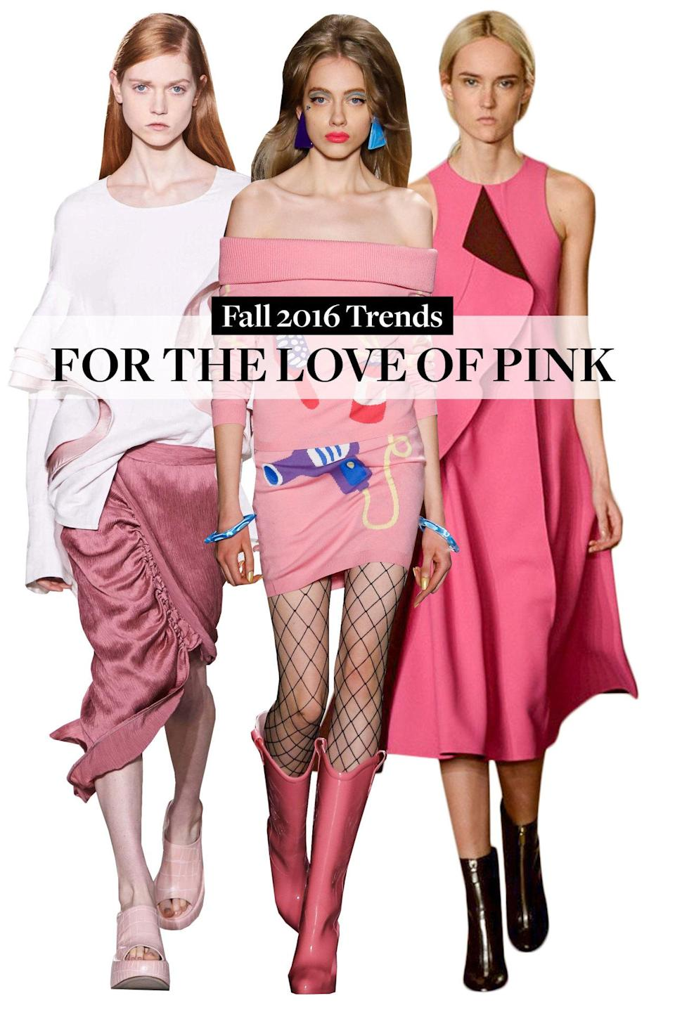 <p>We're seeing pink…at newcomer Monse, Sies Marjan, and even JCrew.</p>