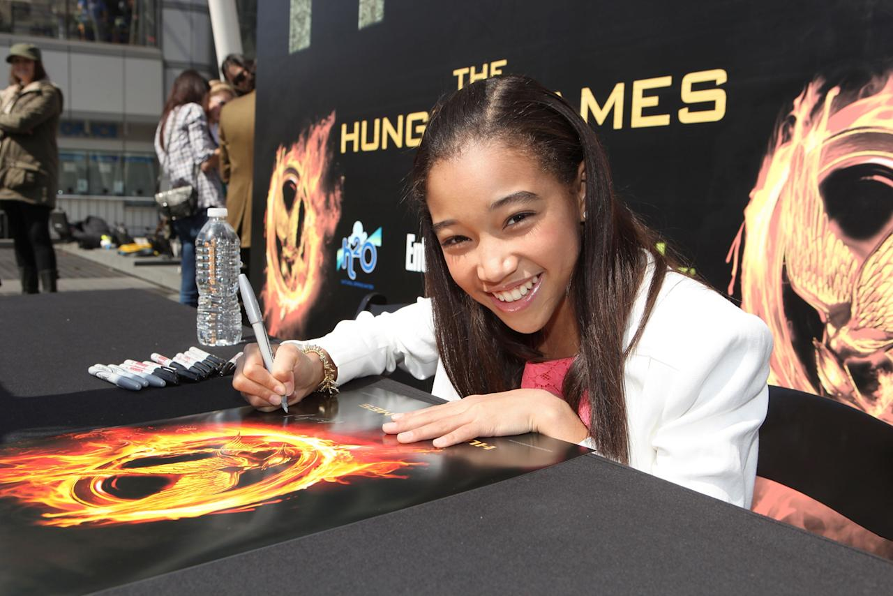 """Amandla Stenberg at """"The Hunger Games"""" World Premiere: """"The Hob"""" Fan Event held at Nokia  Theatre LA Live on March 11, 2012 in Los Angeles, California."""