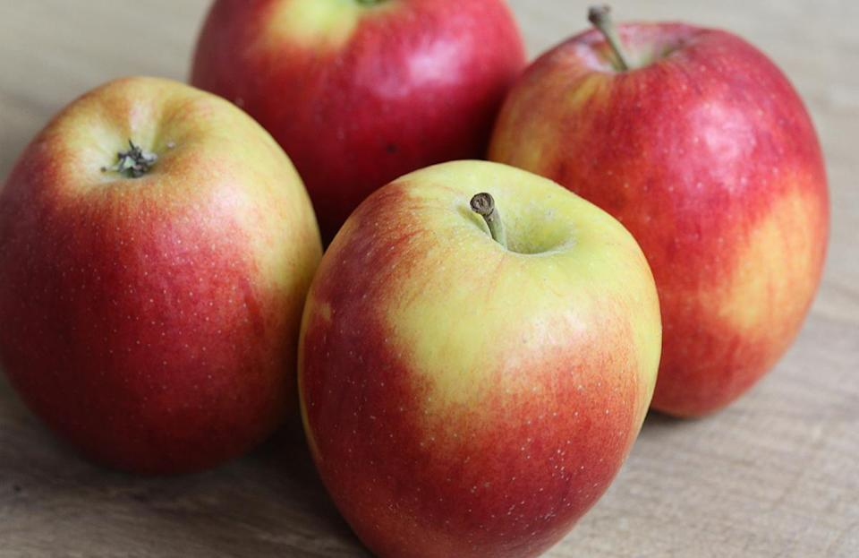 <p>Jazz apples were developed in New Zealand and have only begun to catch on stateside in the past 10 years. They're dense, firm, juicy and super-crisp. They're low in acid, and the flavor has hints of pear.</p>