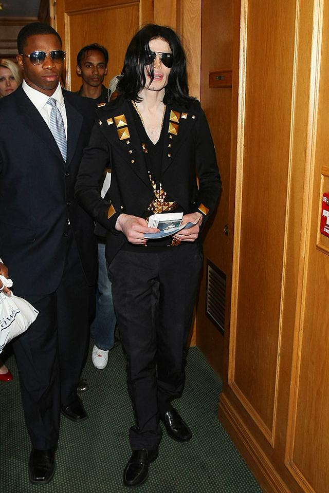 """Michael Jackson (seen here in Beverly Hills Thursday) has postponed the first four of his comeback concerts in London this July. The concert promoters said the delays were to ensure all fans got the same experience and not due to Jackson's health. Clint Brewer/<a href=""""http://www.splashnewsonline.com"""" target=""""new"""">Splash News</a> - May 21, 2009"""