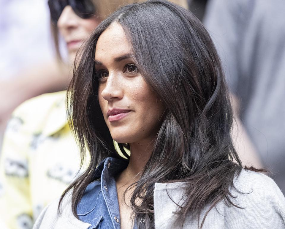 NEW YORK, USA - SEPTEMBER 7: Duchess of Sussex, Meghan Markle watches the US Open Championships women's singles final match between Serena Williams of USA and Bianca Andreescu of Canada at Billie Jean King National Tennis Center in New York, United States on September 7, 2019.   (Photo by Lev Radin/Anadolu Agency via Getty Images)