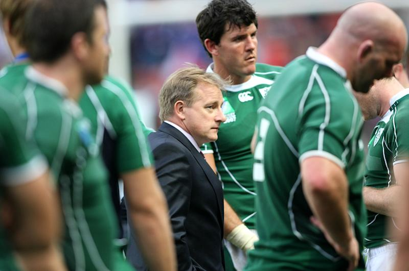 Ireland coach Eddie O'Sullivan stands dejected after the final whistle (Photo by Julien Behal - PA Images/PA Images via Getty Images)