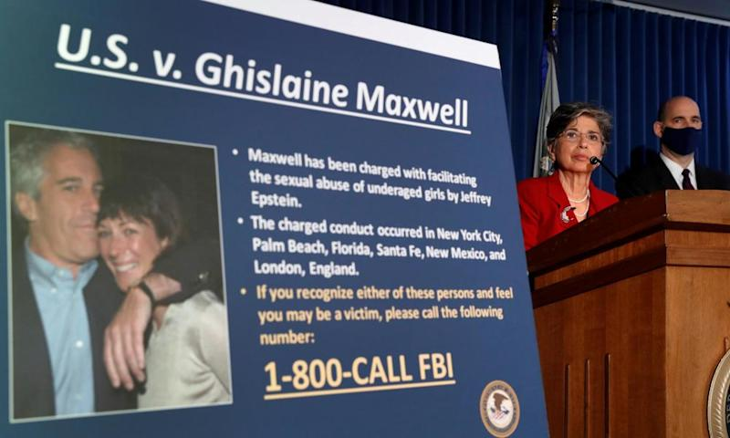 Audrey Strauss, acting US attorney for the Southern District of New York announces charges against Ghislaine Maxwel in New York on 2 July.