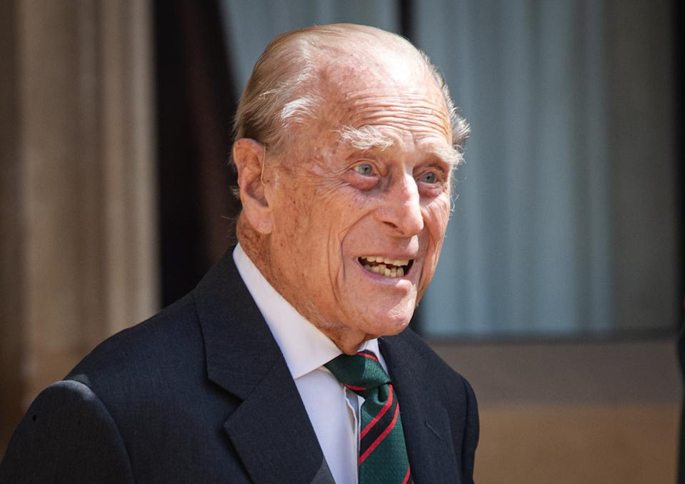 Prince Philip in a rare public engagement in 2020 as he transferred the title of Colonel-in-Chief of The Rifles to the Duchess of Cornwall. (WireImage )