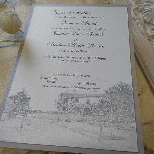 Can you spot what's wrong with this wedding invite? Photo: Instagram