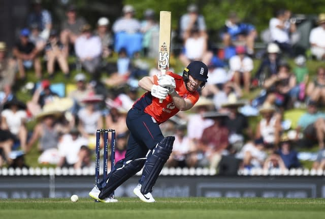 Eoin Morgan's England are locked at 2-2 heading in the decider against New Zealand (Chris Symes/Photosport via AP)
