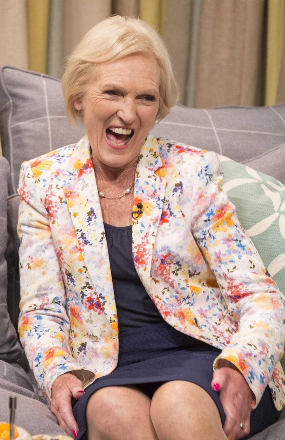 """The TV star repeated the look for an appearance on """"This Morning"""" in 2014. [Photo: Rex]"""