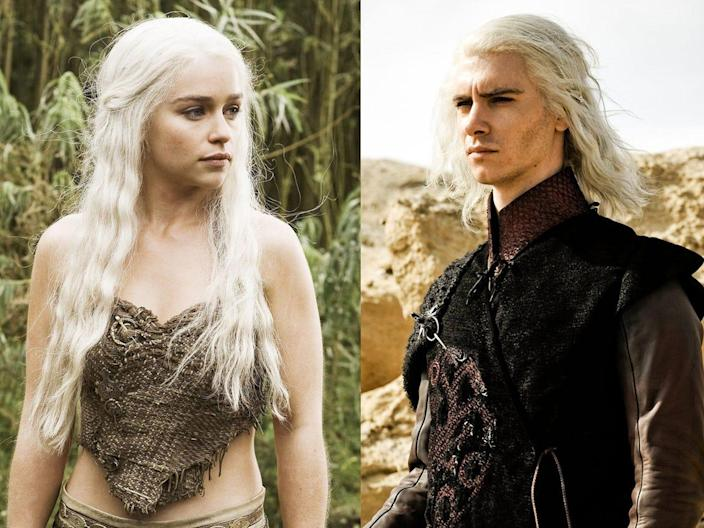 Daenerys and Viserys Targaryen Game of Thrones HBO Helen Sloan