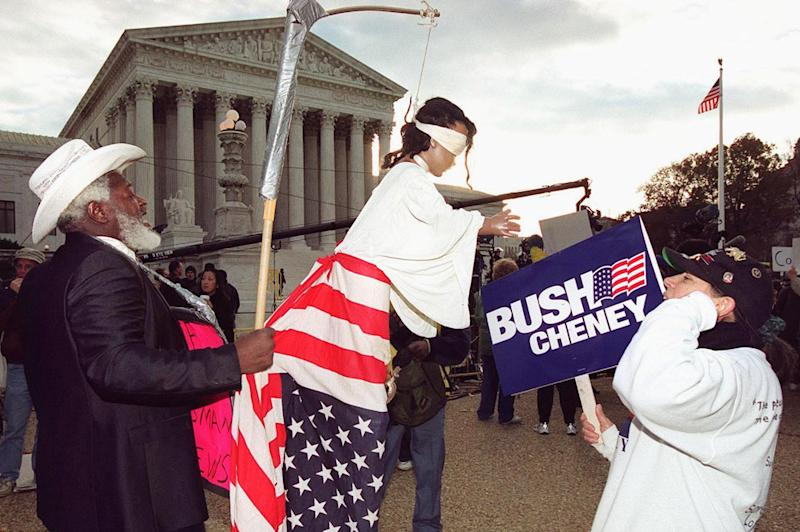 Protesters outside US Supreme Court