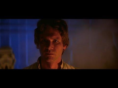 """<p>It is Harrison Ford's effortless charm that carries the original Star Wars trilogy. He electrifies the screen with his casual cool and humor. He might not have been the chosen one, but he was the one we all wanted to be. With style and panache, Han Solo existed in the grey area of good and bad, and proved that when given the choice, we can all ultimately do the right thing. Plus he gave the greatest improvised line in movie history: """"I love you."""" """"I know.""""</p><p><a href=""""https://www.youtube.com/watch?v=kdlRmWd_R7A"""" rel=""""nofollow noopener"""" target=""""_blank"""" data-ylk=""""slk:See the original post on Youtube"""" class=""""link rapid-noclick-resp"""">See the original post on Youtube</a></p>"""