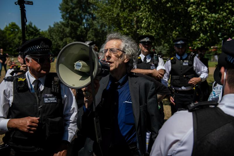 Piers Corbyn rallied against the lockdown at Speaker's Corner (Getty Images)