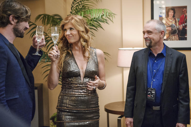 "Michiel Huisman, Connie Britton and David Alford in the ""Nashville"" episode, ""Where He Leads Me."""