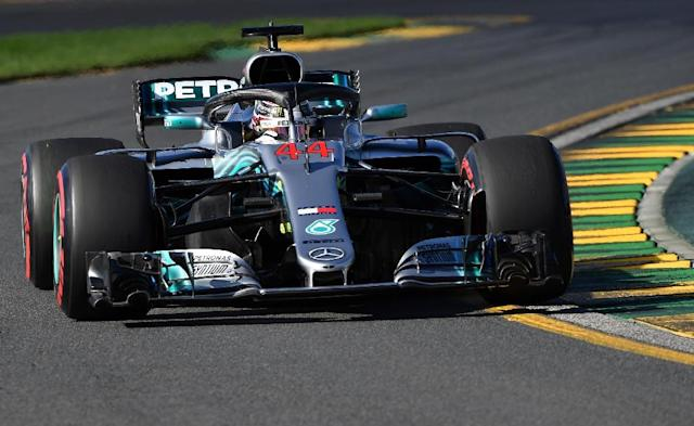 Mercedes' Lewis Hamilton was fastest in both practice sessions for the Australian Grand Prix. (AFP Photo/Paul Crock)
