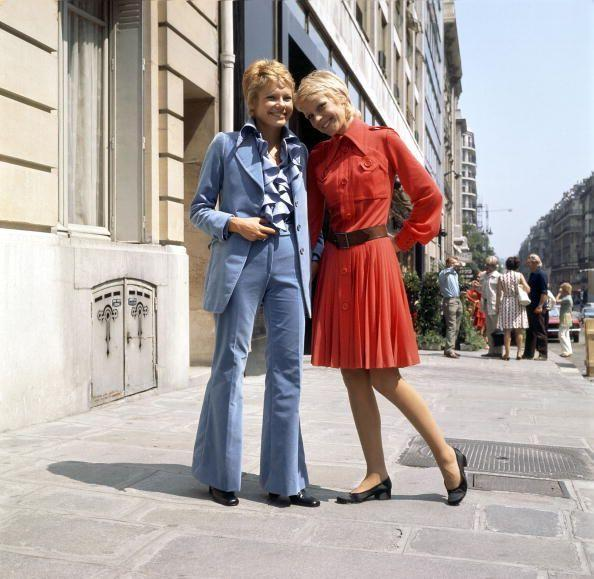 <p>Ah, the pure essence of the '70s, namely that powder blue suit and matching ruffled shirt. </p>
