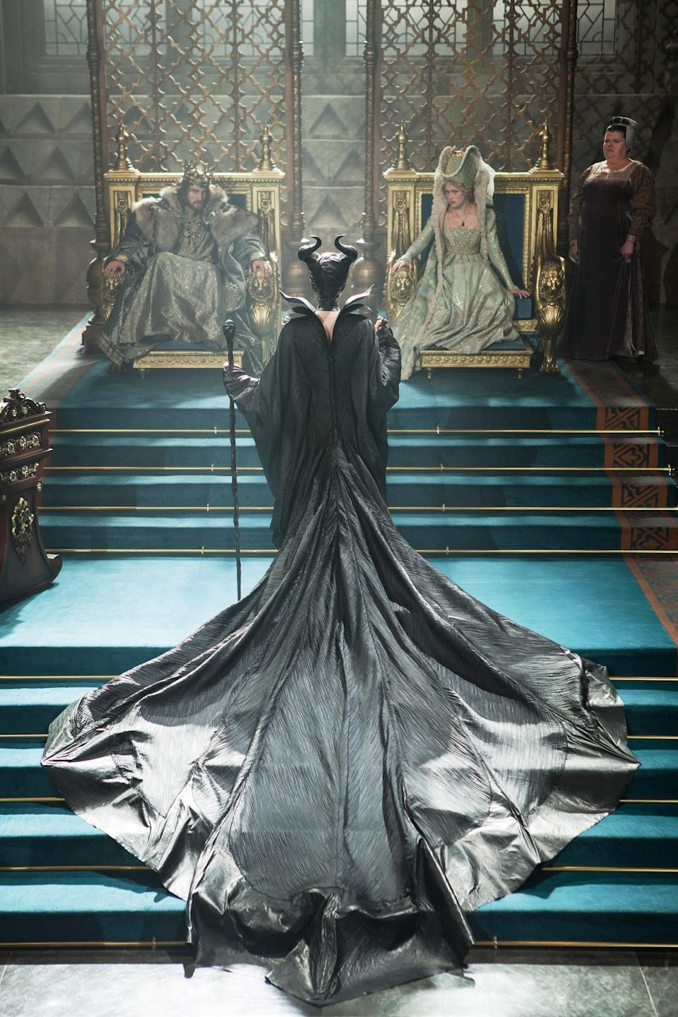 """<p>The other side of Sleeping Beauty, we get the backstory on the allegedly evil fairy Maleficent, played by Angelina Jolie. Turns out, there's a lot more to her casting that sleeping spell than being envious of the young Aurora, and we learn of the heartbreaking betrayal the black-clad antihero has endured.</p> <p><a href=""""https://disneyplus.bn5x.net/VryLJ"""" rel=""""nofollow noopener"""" target=""""_blank"""" data-ylk=""""slk:Available on Disney+"""" class=""""link rapid-noclick-resp""""><em>Available on Disney+</em></a></p>"""