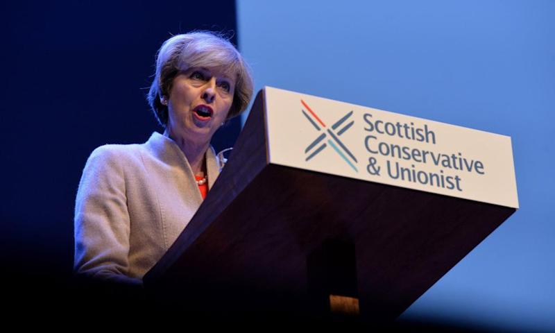 Theresa May at the Scottish Tories' spring conference