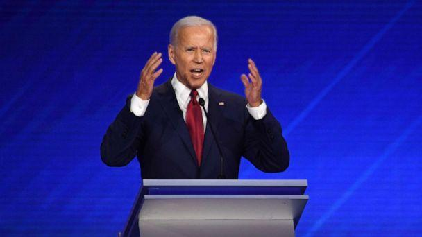 PHOTO: Democratic presidential hopeful former Vice President Joe Biden speaks during the third Democratic primary debate at Texas Southern University in Houston, Sept. 12, 2019. (Robyn Beck/AFP/Getty Images)