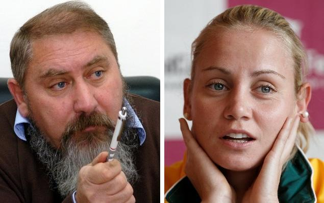 Damir Dokic (L) coached his daughter Jelena for much of her career - AP