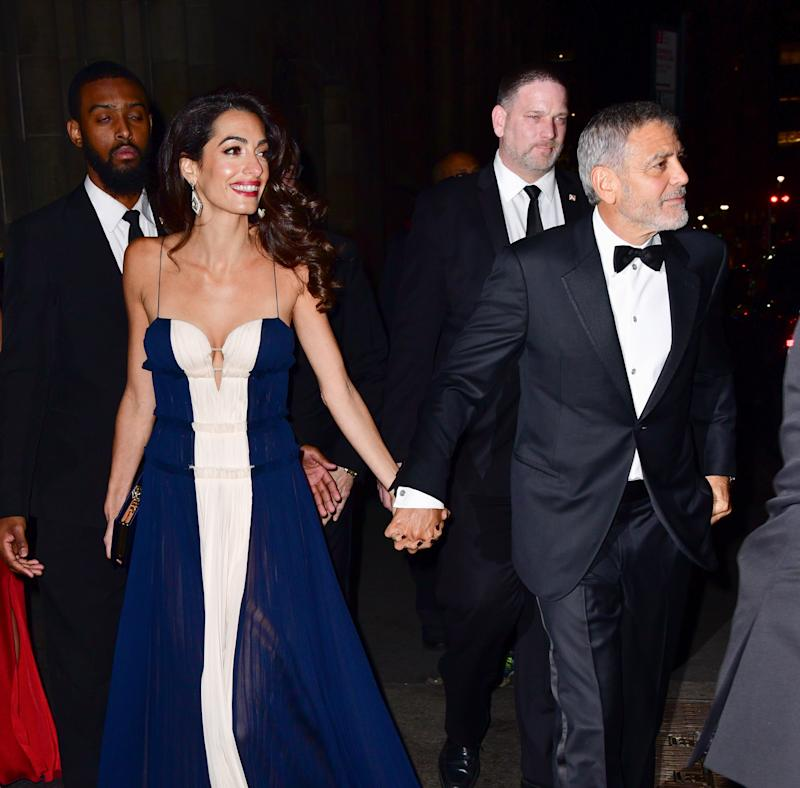Amal Clooney Wears Sheer Blue J. Mendel Gown