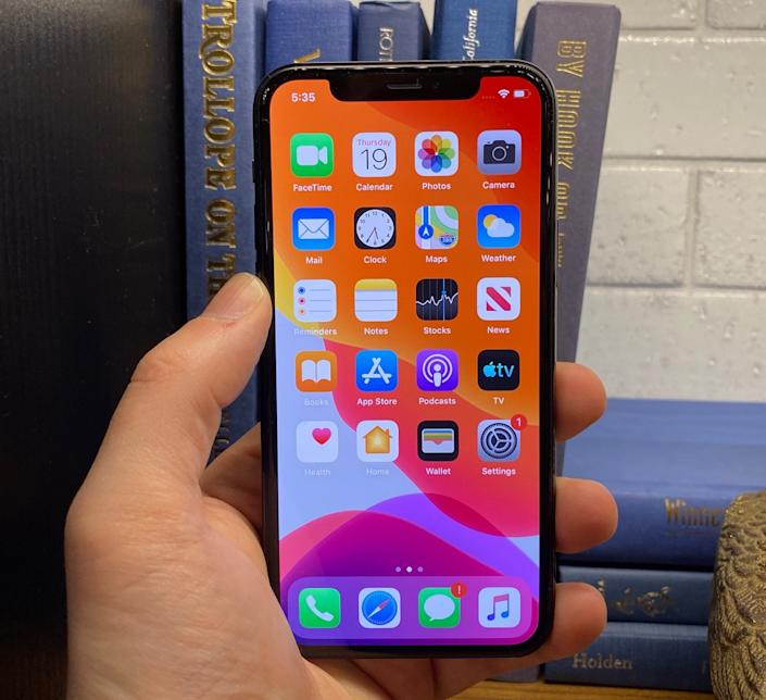 The iPhone 11 Pro and 11 Pro Max get new OLED XDR Super Retina Displays, while the iPhone 11 gets a LCD Liquid Retina display. (Image: Dan Howley)