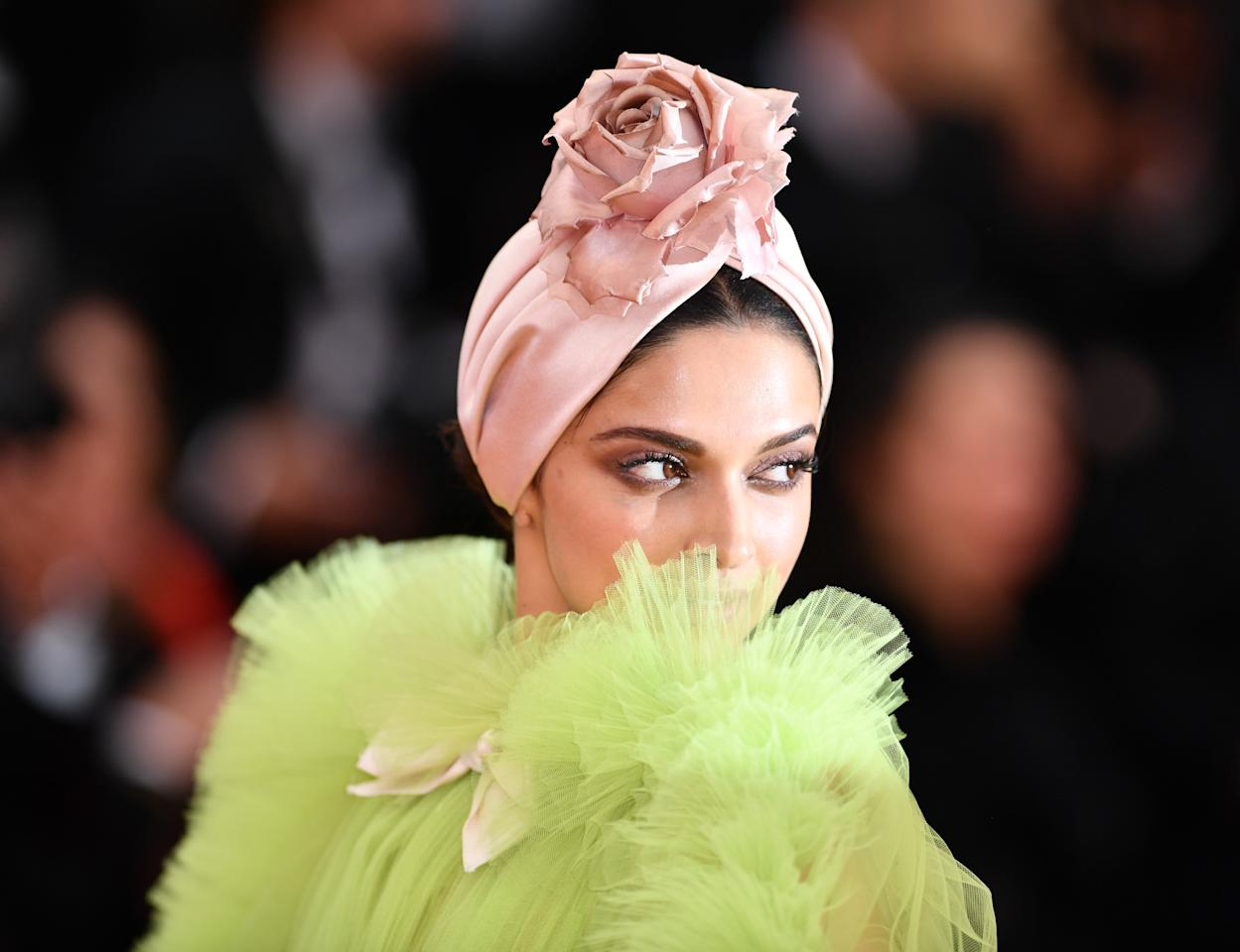 CANNES, FRANCE - MAY 17: Indian actress Deepika Padukone arrives for the screening of the film 'Dolor y Gloria' (Pain and Glory) in competition at the 72nd annual Cannes Film Festival in Cannes, France on May 17, 2019. (Photo by Mustafa Yalcin/Anadolu Agency/Getty Images)