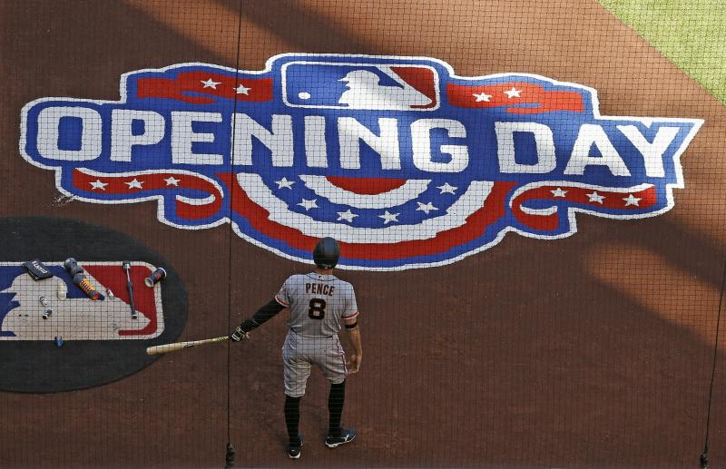 Play ball! Opening day in majors, Cubs lose in title defense