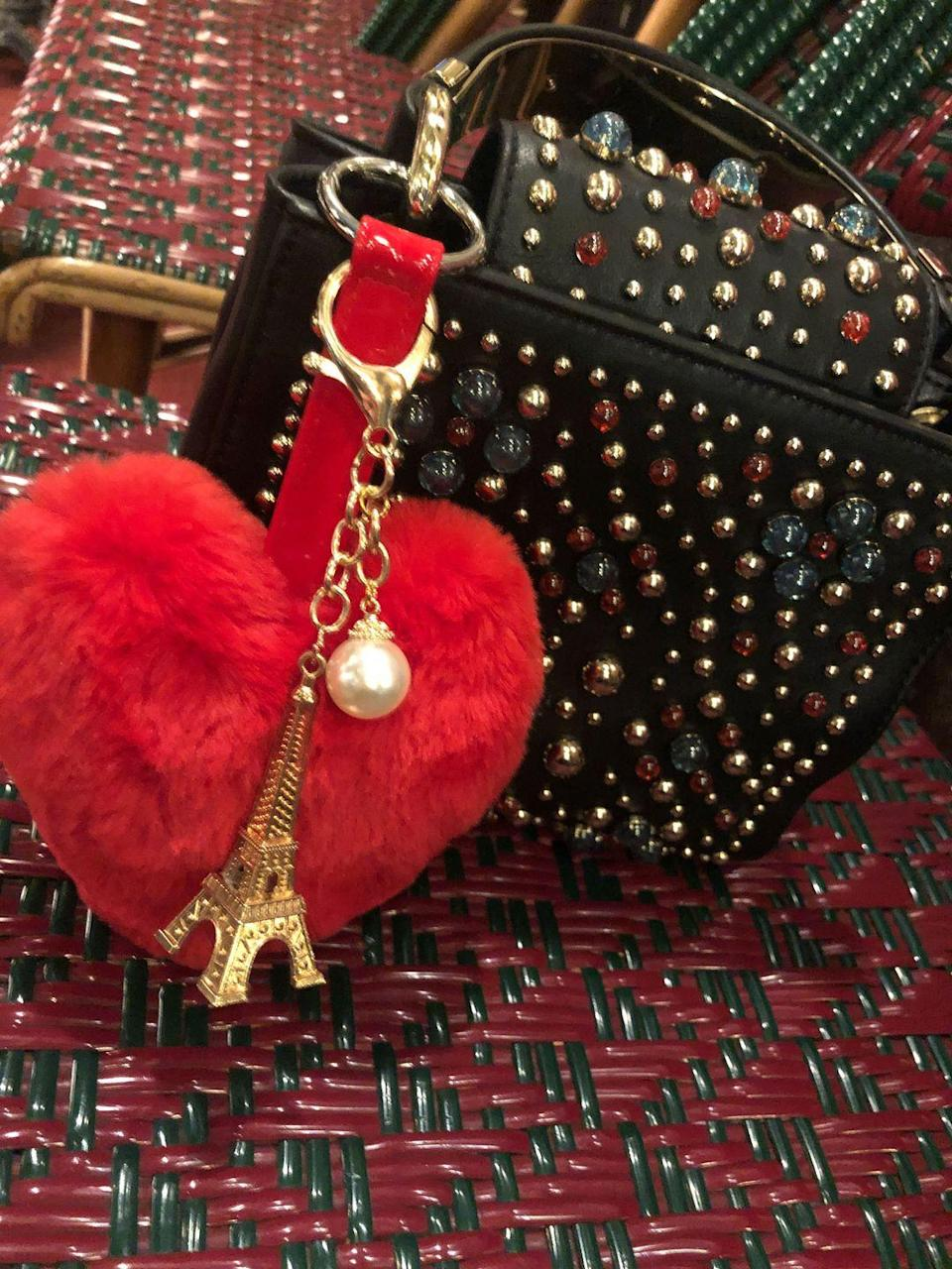 """<p>As for Emily's bag charm, Field agrees with the character Pierre Cadault, saying they can be """"tacky."""" """"The truth is, I don't really think that much about bag charms. I agree with the designer on the show,"""" she admits. </p>"""