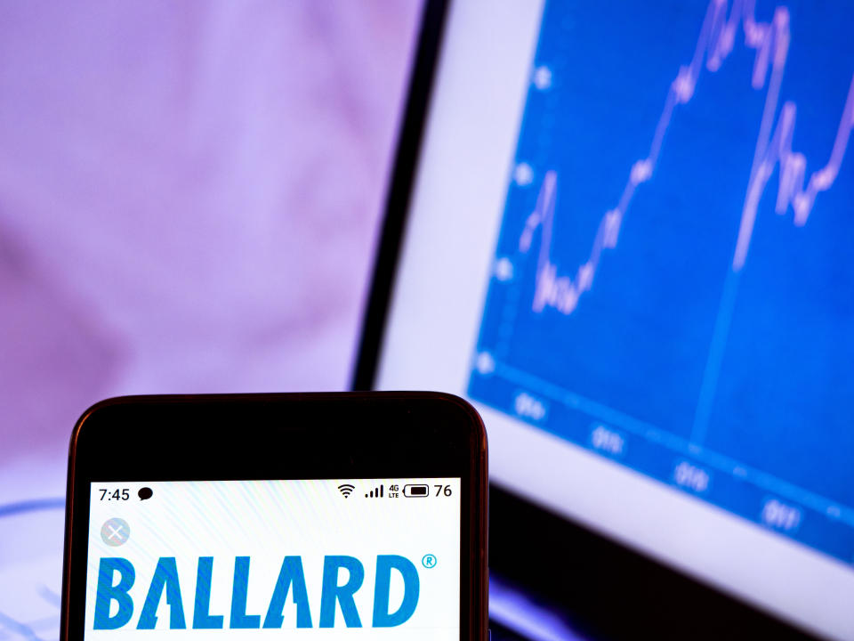 Ballard shares have fallen sharply since February, when the clean tech sector was lifted by Joe Biden's White House win. (Photo Illustration by Igor Golovniov/SOPA Images/LightRocket via Getty Images)