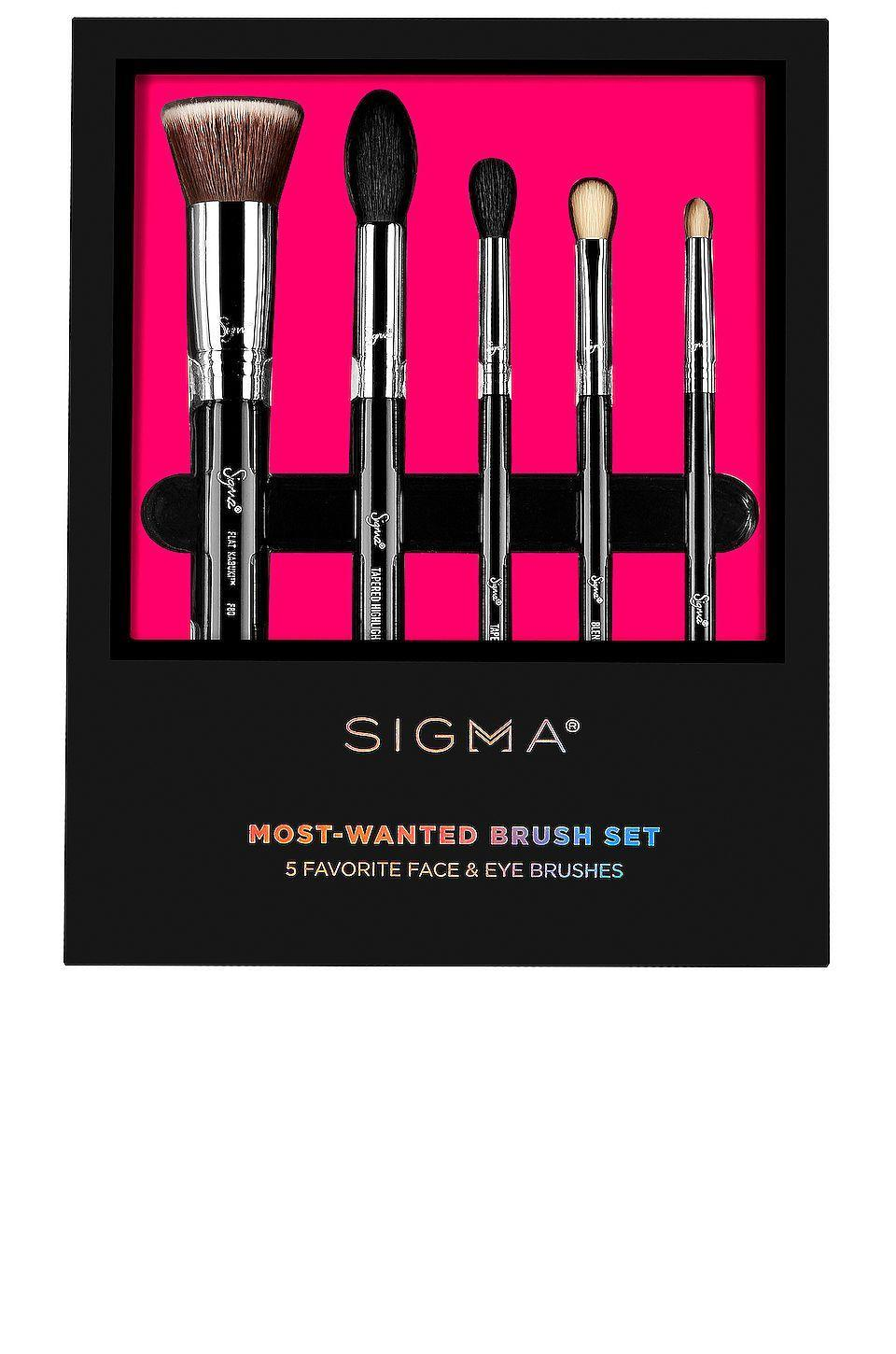 """<p><strong>Sigma Beauty</strong></p><p>revolve.com</p><p><strong>$73.00</strong></p><p><a href=""""https://go.redirectingat.com?id=74968X1596630&url=https%3A%2F%2Fwww.revolve.com%2Fdp%2FSGBY-WU12%2F&sref=https%3A%2F%2Fwww.prevention.com%2Fbeauty%2Fmakeup%2Fg37620517%2Fbest-makeup-brush-sets%2F"""" rel=""""nofollow noopener"""" target=""""_blank"""" data-ylk=""""slk:Shop Now"""" class=""""link rapid-noclick-resp"""">Shop Now</a></p><p>It's called most-wanted for a reason. Sigma is considered an OG brand when it comes to makeup brushes, being one of the first to push non-professionals away from using that foam tip applicator that comes in drugstore palettes. This set features <strong>their most popular designs</strong> including a flat top kabuki, a tapered highlighting brush, two blending brushes for eyeshadow, and a pencil brush. </p>"""