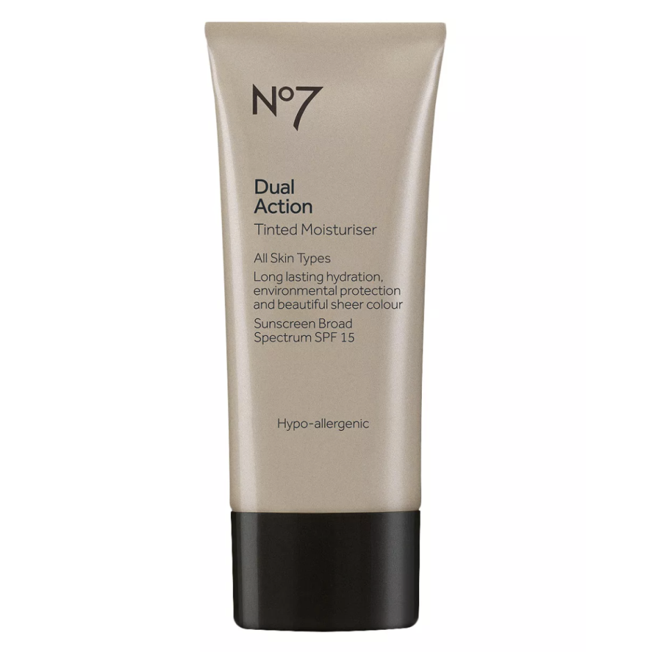 "<p><strong>No7</strong></p><p>target.com</p><p><strong>$13.99</strong></p><p><a href=""https://www.target.com/p/no7-dual-action-tinted-moisturiser-spf-15-medium-1-6oz/-/A-14496960"" rel=""nofollow noopener"" target=""_blank"" data-ylk=""slk:SHOP NOW"" class=""link rapid-noclick-resp"">SHOP NOW</a></p><p>When skin is super parched, reach for this supremely hydrating sheer tint. It evens and brightens to give you that dewy glow you've been searching for, says <a href=""https://www.batraskincare.com/"" rel=""nofollow noopener"" target=""_blank"" data-ylk=""slk:Dr. Sonia Batra"" class=""link rapid-noclick-resp"">Dr. Sonia Batra</a>, a board-certified dermatologist and co-host of <a href=""https://www.thedoctorstv.com/doctors/sonia-batra"" rel=""nofollow noopener"" target=""_blank"" data-ylk=""slk:The Doctors"" class=""link rapid-noclick-resp""><em>The Doctors</em></a>. </p>"