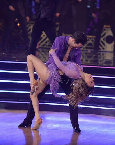 PHOTO: Ally Brooke and Sasha Farber as shown dancing on the 2019 season of 'Dancing With The Stars'. (Eric McCandless/ABC via Getty Images)