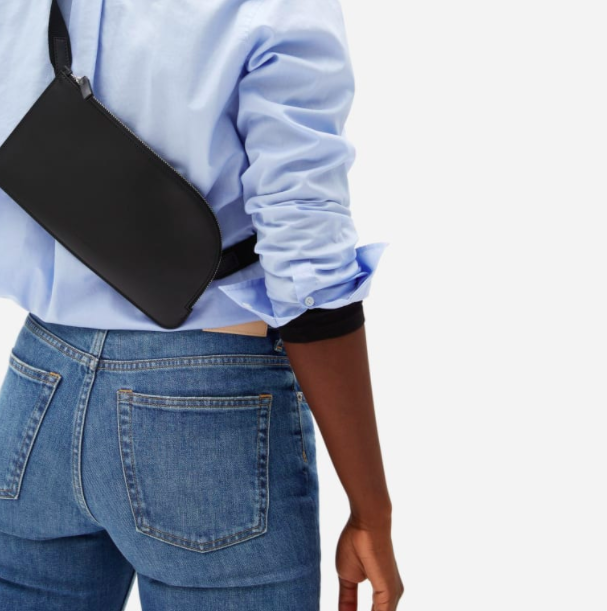 Everlane's The Leather Sling in Black