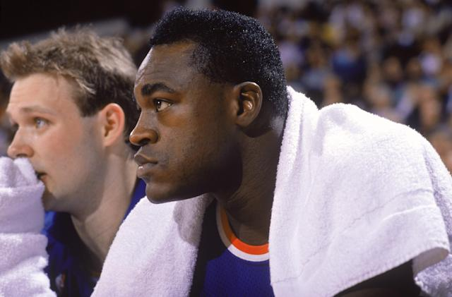 Gerald Wilkins, the brother of Hall of Famer Dominique Wilkins and father of Damien Wilkins, played in the league from 1985-1999. (Tim Defrisco/Getty Images)