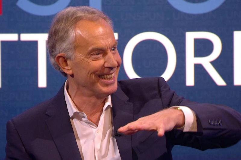 Former leader: Tony Blair made the confession on a TV show on Dave: PA