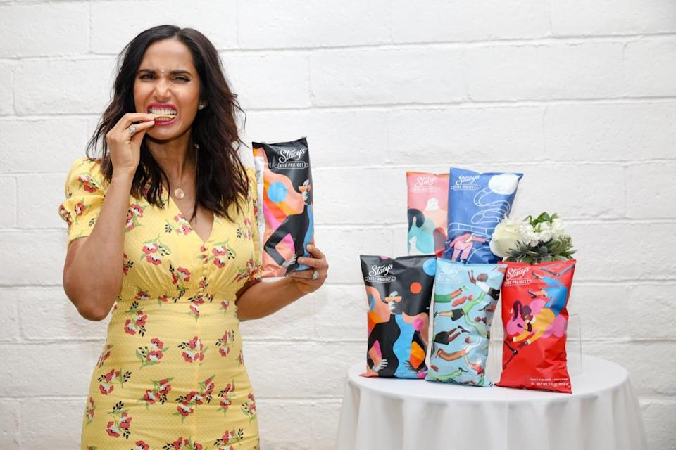 SANTA ROSA, CA - MAY 10: Top Chef host and executive producer Padma Lakshmi partners with Stacy's Pita Chips to launch The Stacy's Rise Project, an initiative to provide funding, networking, and mentorship to female founders of food and beverage businesses, on May 10, 2019 at Alice's Circular Summit in Santa Rosa, California.  (Photo by Kelly Sullivan/Getty Images for Frito-Lay North America)